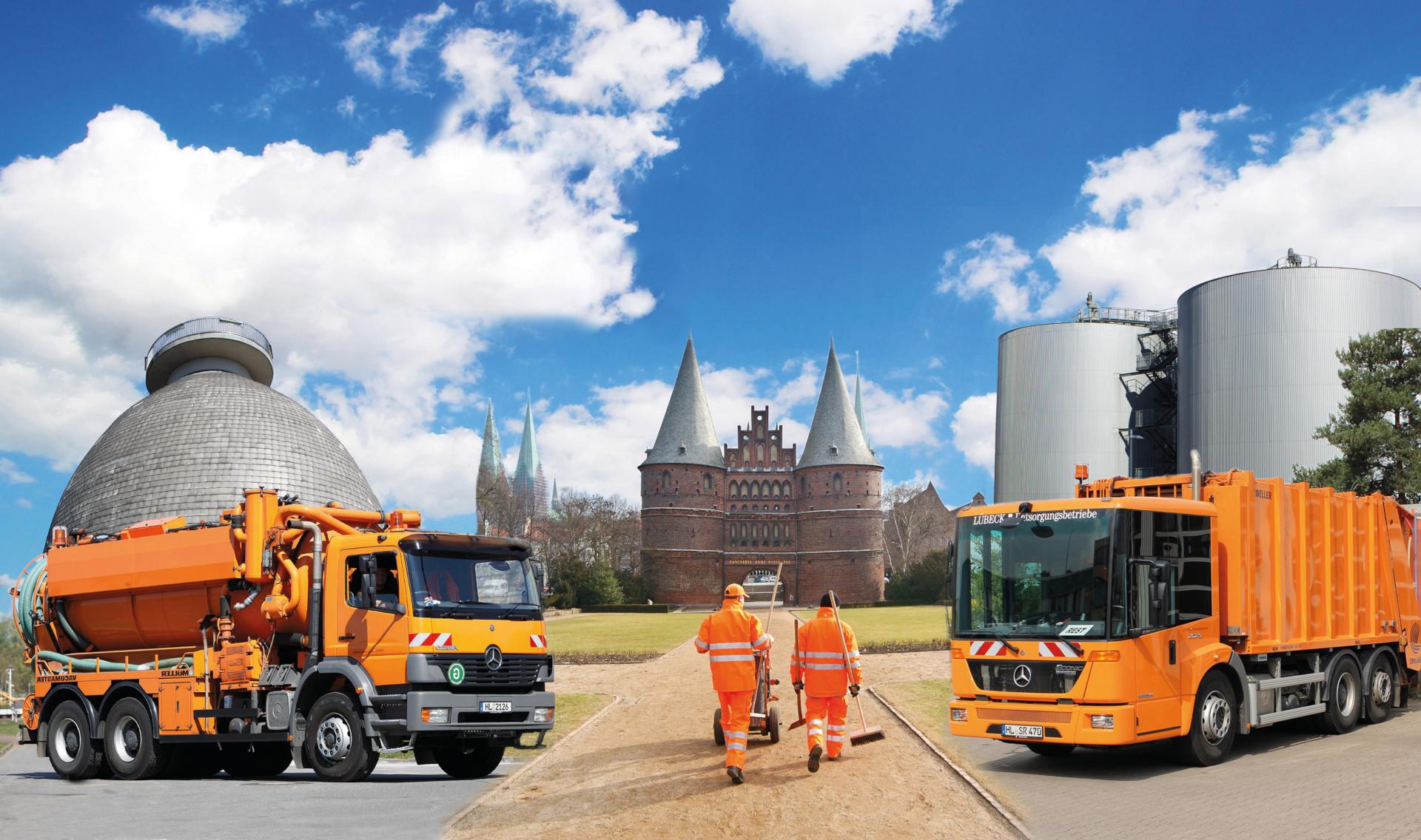 Entsorgungsbetriebe Lübeck, Collage mit Holstentor
