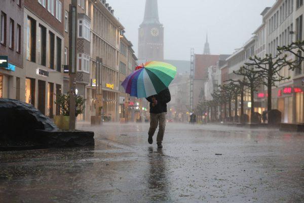 Starkregen in Lübeck