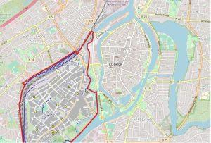 Ausschnitt GIS-Karte St. Lorenz Süd Lübeck