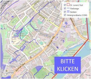 Grafik: interaktive Karte vom Lübecker Stadtteil St. Lorenz Süd