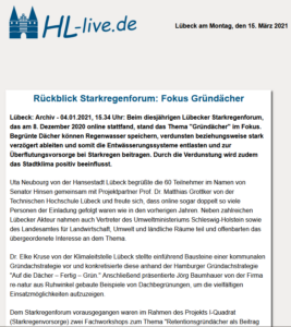 screenshot HL-live Starkregenforum