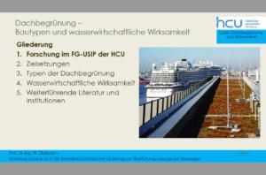Screenshot Vortrag: Dachbegrünung Bautypen und wasserwirtschaftliche Wirksamkeit